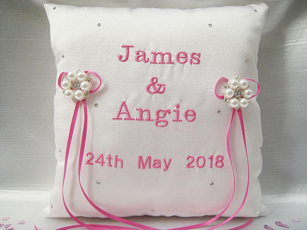 'Jane' Personalised Ring Cushion £36.99