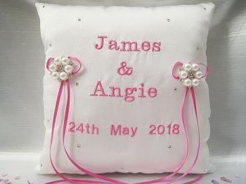 'Jane' Personalised Wedding Ring Cushion