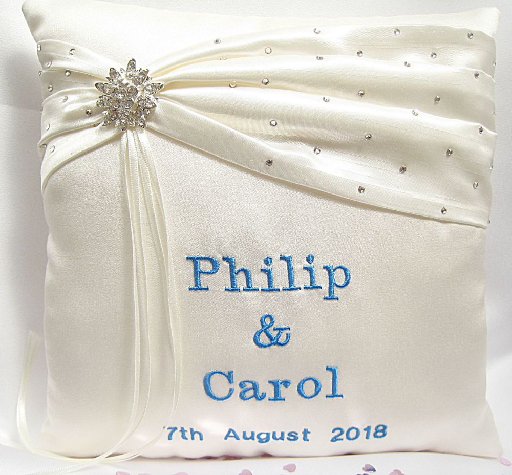 Personalised Ring Cushions For Weddings