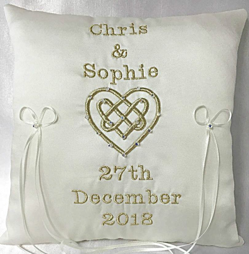 No10 Celtic Love Knot Wedding Ring Cushion £46.99