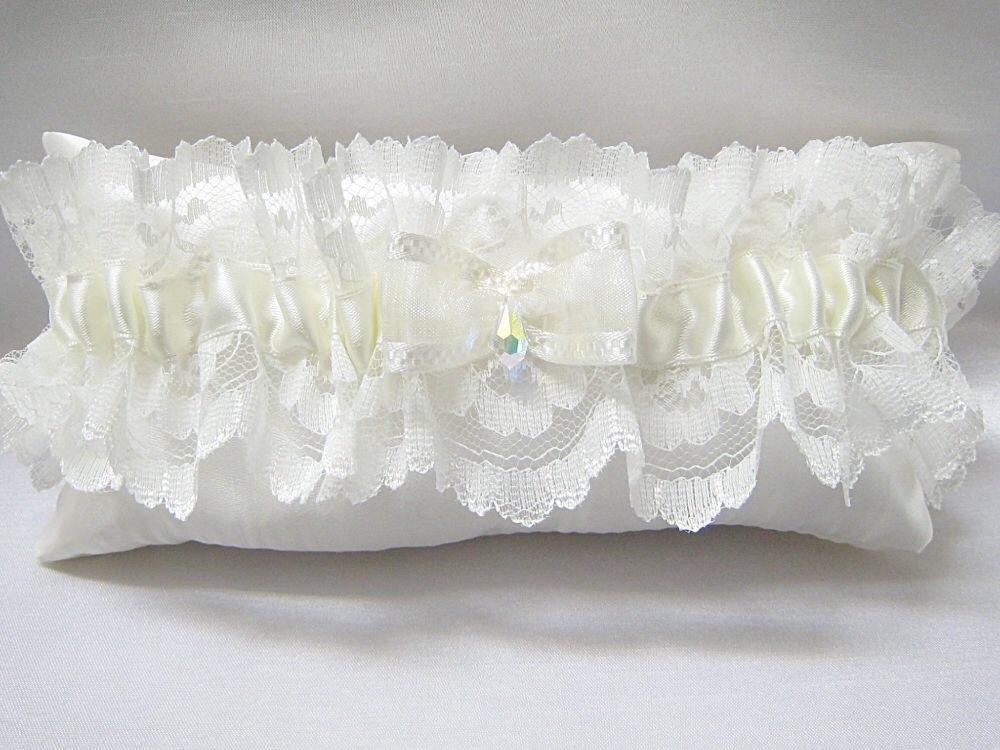 Luxury Wedding Garter 'Valerie', Made To Order Wedding Garter