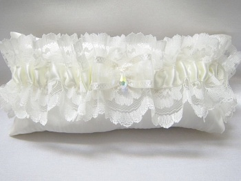 Luxury Wedding Garter 'Valerie', Made To Order Wedding Garter