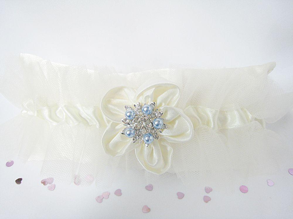 'Isobella' Tulle Wedding Garter £44.99