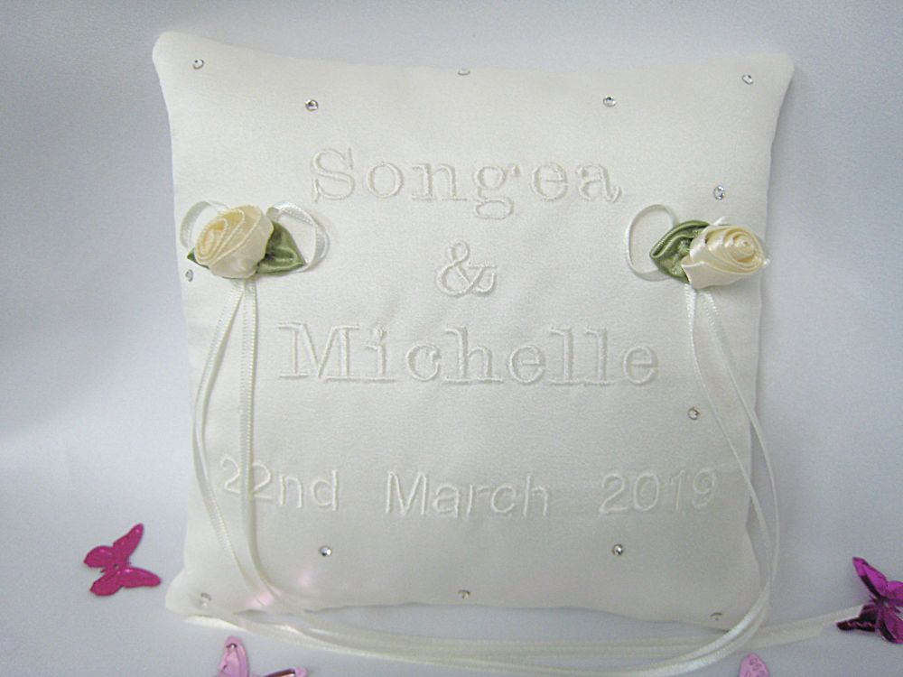 No.1 Mini Wedding Ring Cushion CHOOSE Your Colour Ring Cushion