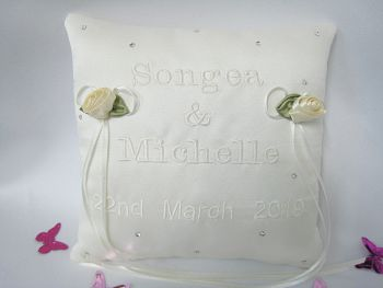 No.1 Mini Wedding Ring Cushion CHOOSE Your Colour Ring Cushion