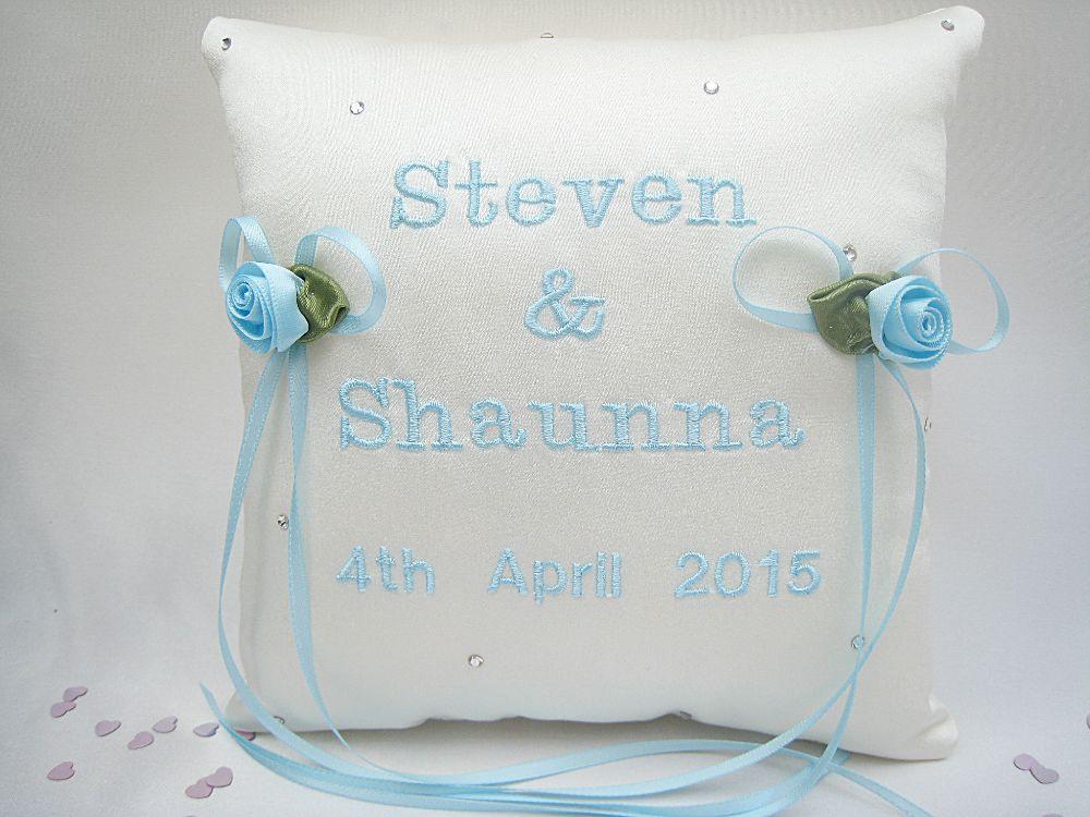 No14  SMALLER Wedding Ring Cushions £34.99