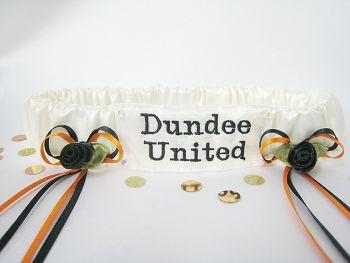 No.7 Dundee United Wedding Garter, Football garters UK