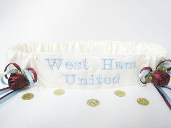 No17 WEST HAM Wedding Football Garter