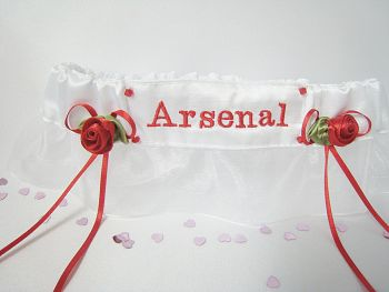 No.2 ARSENAL  Football Garter, Organza Garter