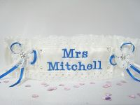 'Angie' Luxury Personalised Wedding Garter, Made To Order Bridal Garter