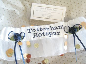 No20 TOTTENHAM HOTSPUR Organza Wedding Football Garter