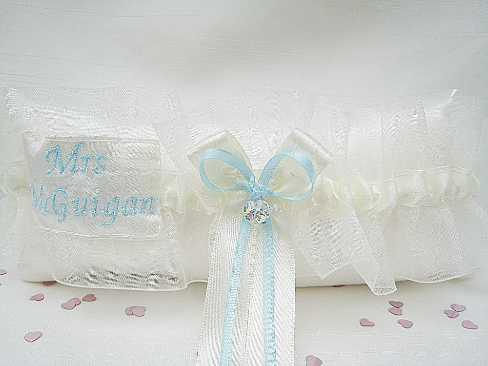 CRYSTAL Silver Sixpence Wedding Garter £42.99