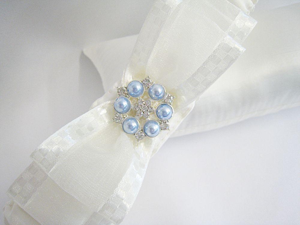 'Nadine' Blue Wedding Garter £23.99