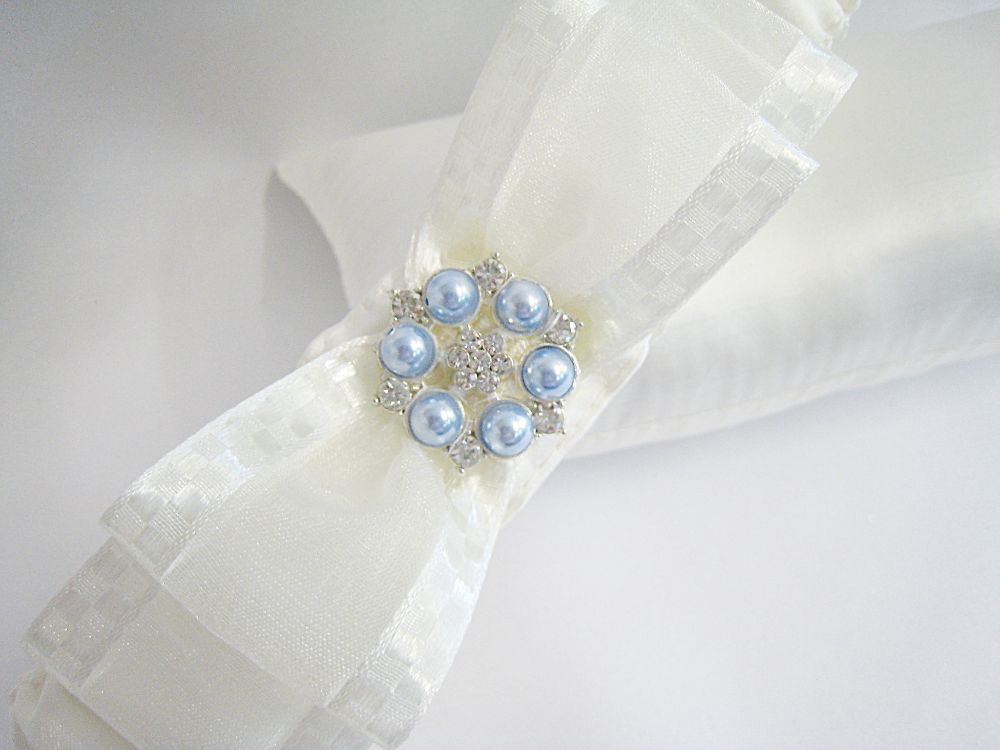 Nadine Personalised Blue Wedding Garter £23.99