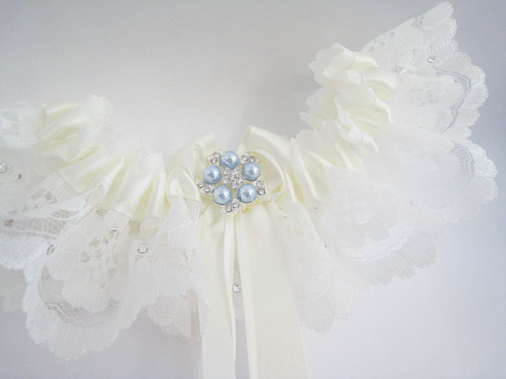 Coco Weddng Garter, Swarovski Crystal Luxury Wedding Garter UK