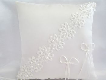 Emma Laser Cut Luxury Wedding Ring Cushion, Custom Made to Order In Choice Of Colours
