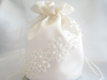Laser Cut Flowers Dolly Bag, Custom Made To Order Bridal Bag