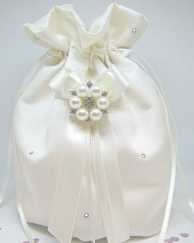 Diamante & Pearl Dolly Bag, Bridal Wedding Bags