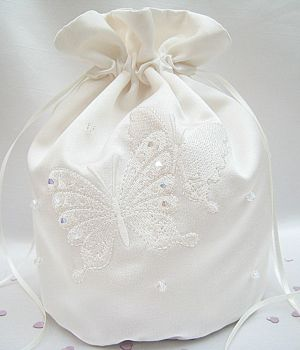 Butterfly Dolly Bags Custom Made With Swarovski Crystals