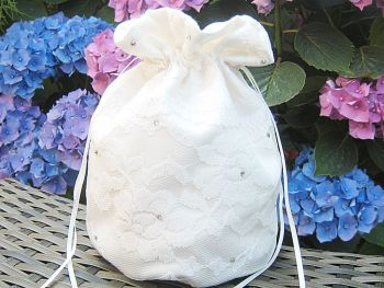 Satin & Lace Dolly Bag, Designer Wedding Bag Made To Order
