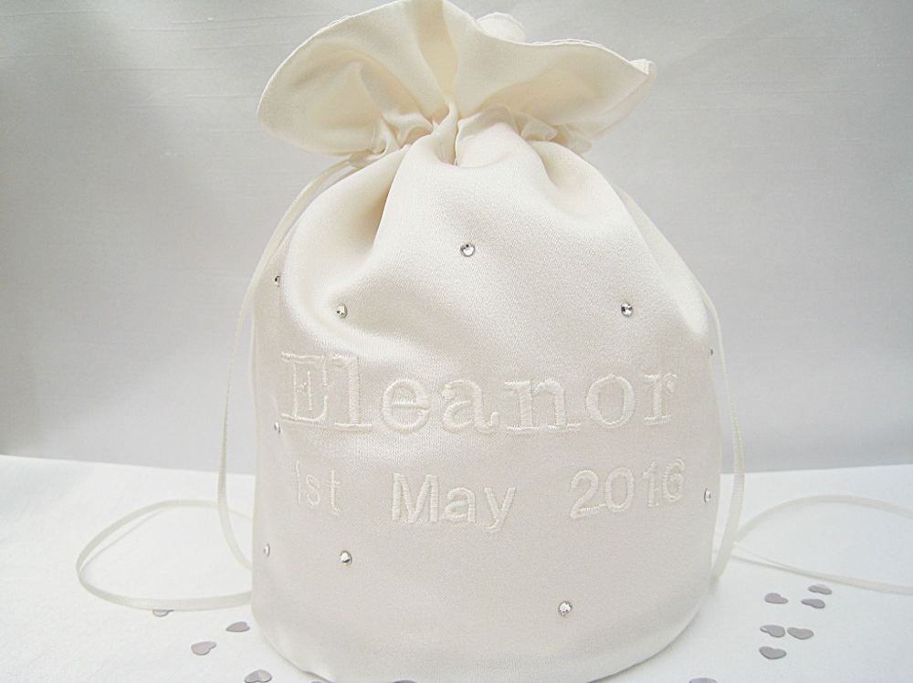Personalised Dolly Bag Choose Your Colour Embroidery