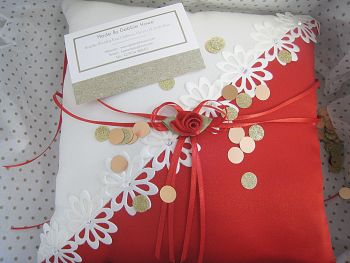Quick Despatch  Ring Bearer Cushion Bridal Ceremony