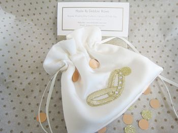 No.8 Gold Wedding Ring Bag, Wedding Ring Pouch Bag
