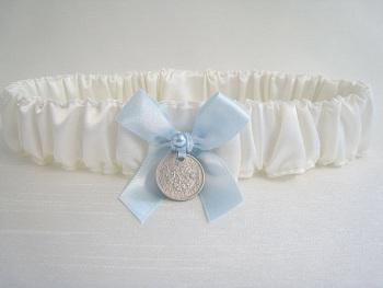 Genuine Silver Sixpence Wedding Garter