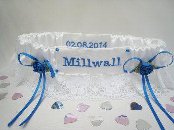 Extra Embroidery  Football Garter £4.00