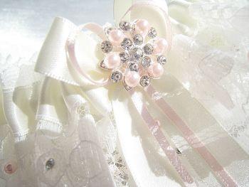 Lucinda Personalised Bridal Garter, Luxury Wedding Garter Couture Bridal
