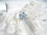 'Rebecca' Organza Wedding Garter Swarovski Crystals