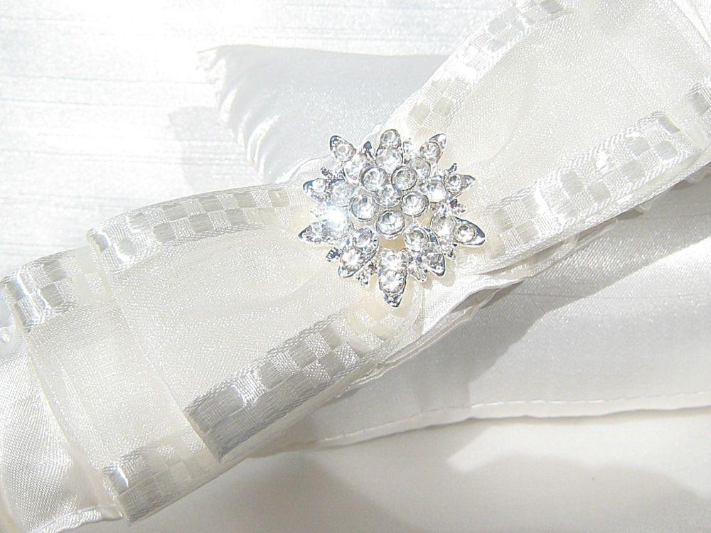 Silk Garters - Wedding Garter Made To Order