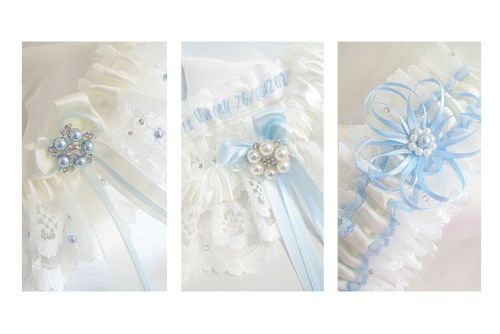 Swarovski Crystals Garters, Satin, Lace & Ribbons
