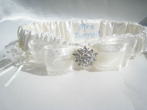 Crystal Wedding Garter UK