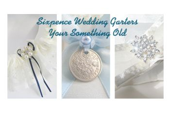 Luxury Garters With Sixpence Coin Included On The Side