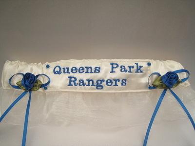 No18 QUEENS PARK RANGERS Organza Wedding Football Garter