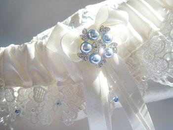 'Belle' Luxury Wedding Garter - Personalised