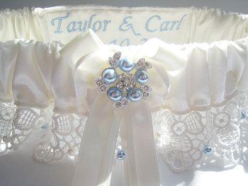 Swarovski Wedding Garter 'Belle' Personalised
