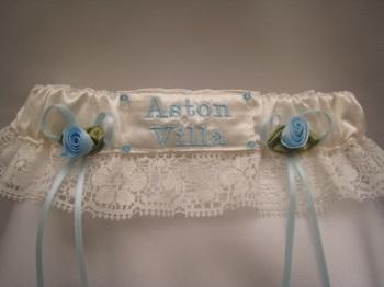 ASTON VILLA Lace Wedding Football Garter