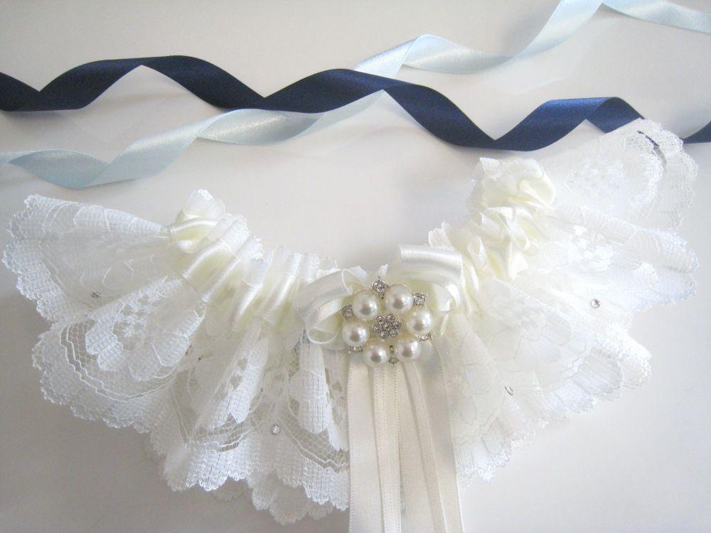 Swarovski Wedding Garter, Couture Bridal Garter Collection.