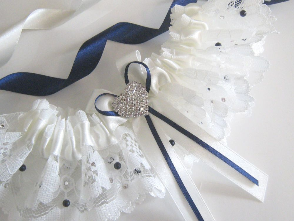 Couture Bridal Garter, Custom Made To Fit.