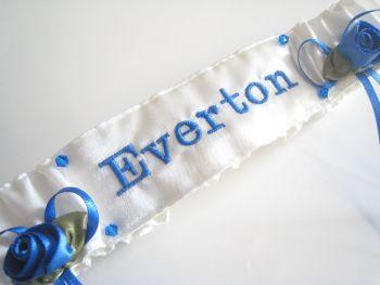 No.8 EVERTON Wedding Football Garter