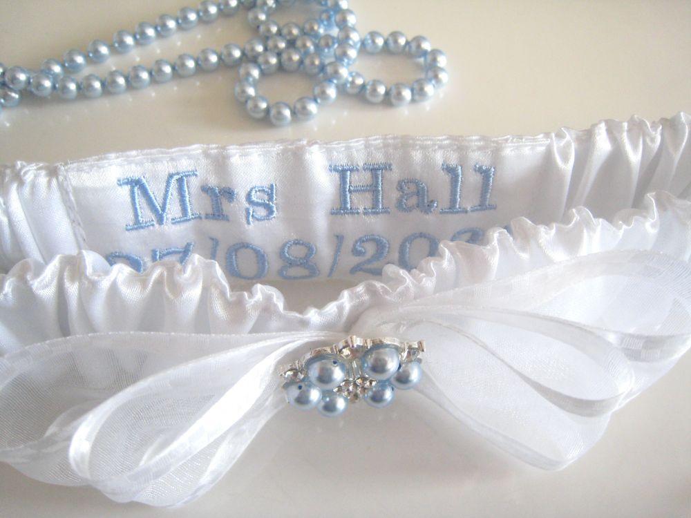 'A' Nadine Swarovski Pearls Garter £23.99