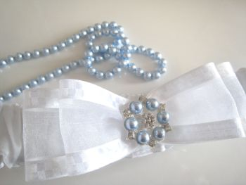 Nadine Personalised Garter With Swarovski Pearls