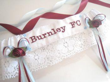BURNLEY FC Lace Football Garter UK