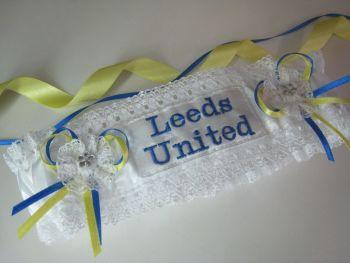 Leeds United Wedding Garter | Royal Blue & Yellow