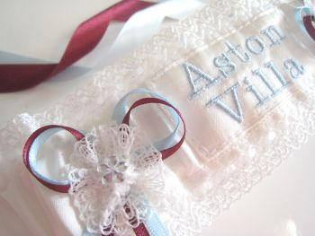 Aston Villa Wedding Garter
