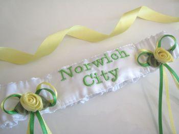 No12 Norwich City Wedding Garter