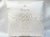 No10 Celtic Love Knot Wedding Ring Cushion £41.99