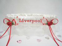 Organza Football Wedding/Rugby Garters  £18.99